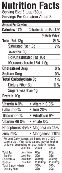 hemp heart nutritional information