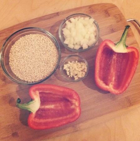 quinoa stuffed pepper recipe ingredients